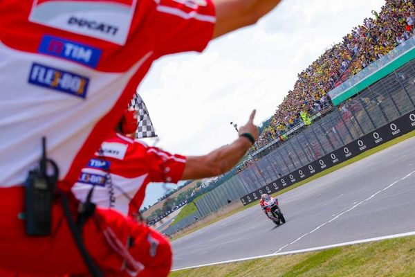 Factory Ducati celebrating their win