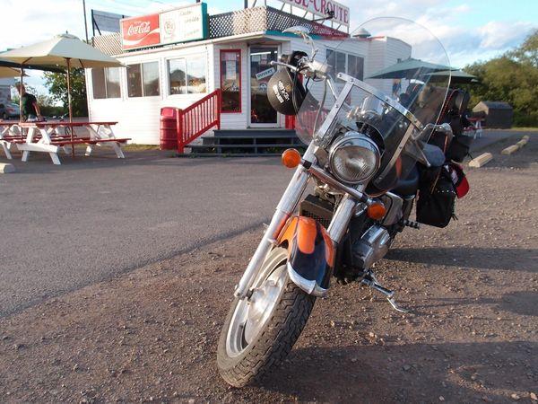 Honda Shadow Sabre parked
