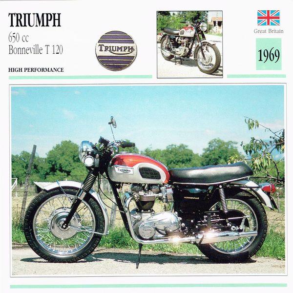 Triumph 650 cc Bonneville T 120 card