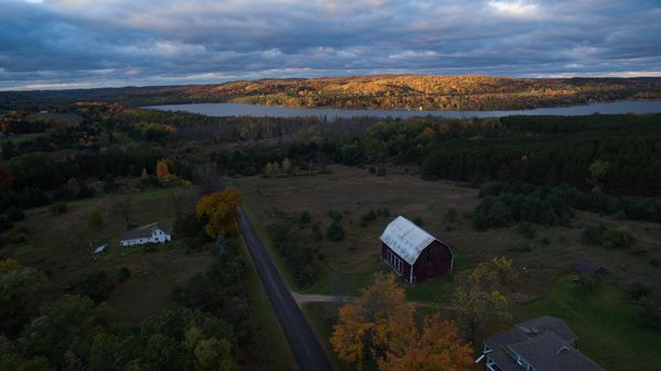 Michigan in fall, from above with Spencer Millsap for EatSleepRIDE