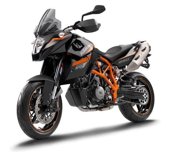 2013 KTM 990 Supermoto T - front quarter view