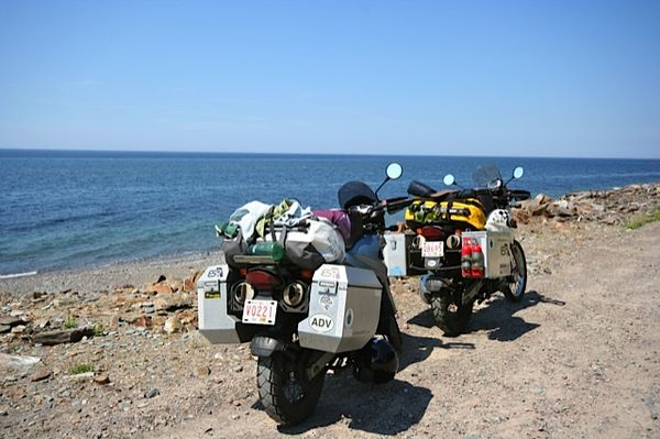 Bikes at Cabot Trail picnic spot