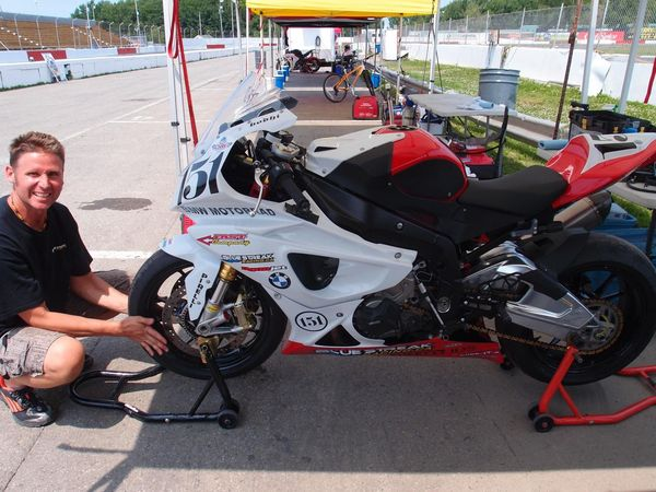 Superbike tech at work in the pits #csbk