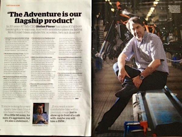 KTM CEO on 1190 Adventure