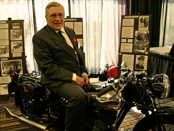 Allan Johnson with his beautiful Brough Superior