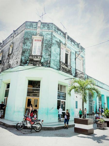 Havana architecture in the beautiful sun shine.