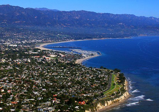 Aerial view of Santa Barbara CA