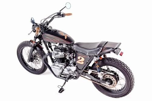 Garage Project Motorcycle's Street Tracker - rear quarter view