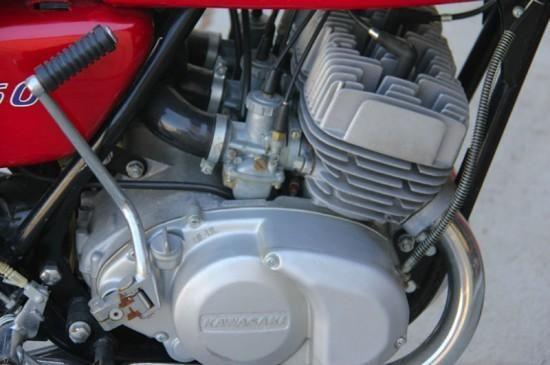 1972 Kawasaki 350 S2 engine