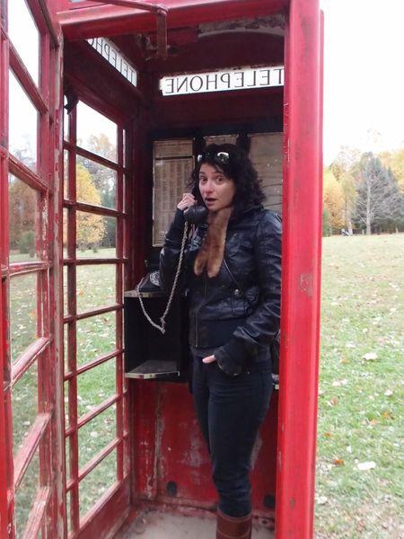 Marina in the Kentuck Knob phone booth