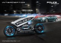 Interceptor police motorcycle drone catches speeders and issues tickets
