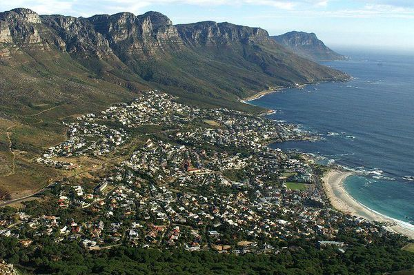 Camps Bay view from Lion's Head Mountain, South Africa