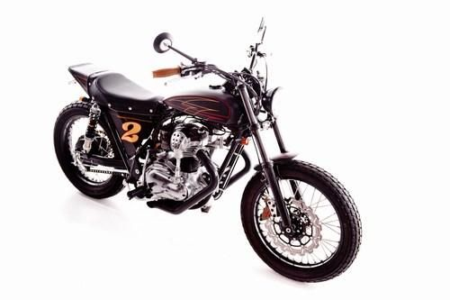 Garage Project Motorcycle's Street Tracker - front quarter view