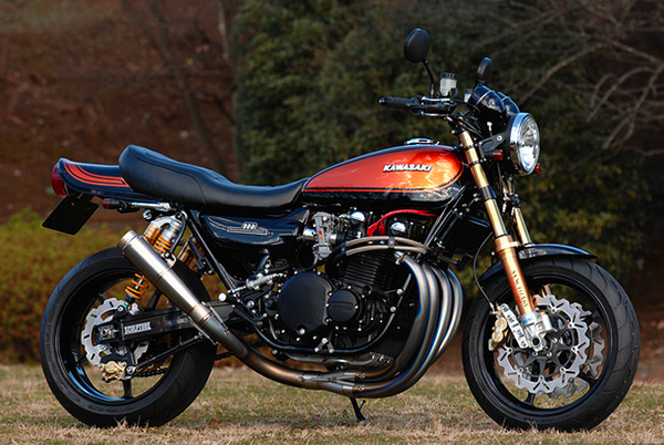 Kawasaki Z1 holding  its cred high