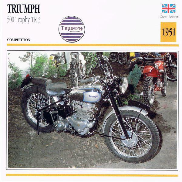 Triumph 500 Trophy TR5 card