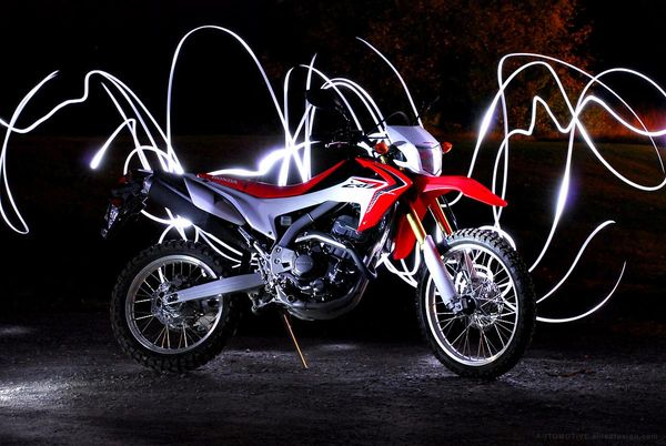Light painted Honda CRF250L