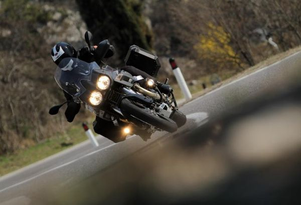 Moto Guzzi Stelvio 1200 NTX ABS on the Stelvio Pass