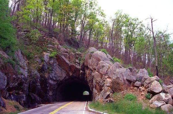 Skyline Drive tunnel, Shenandoah National Park