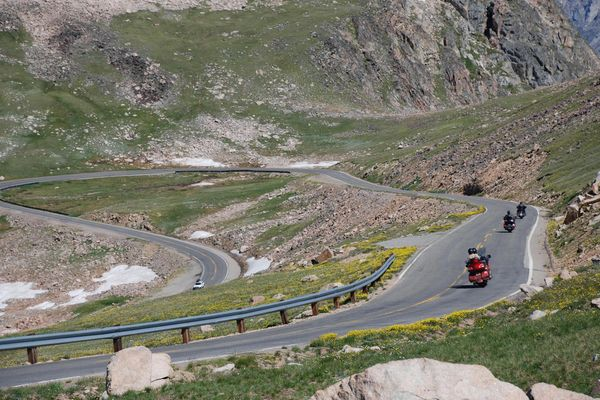 Beartooth Pass Hwy hairpin