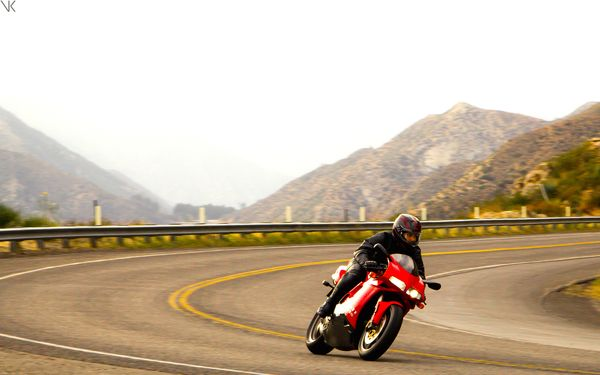 Ducati on Angeles Crest Highway - Motorcycle Roads