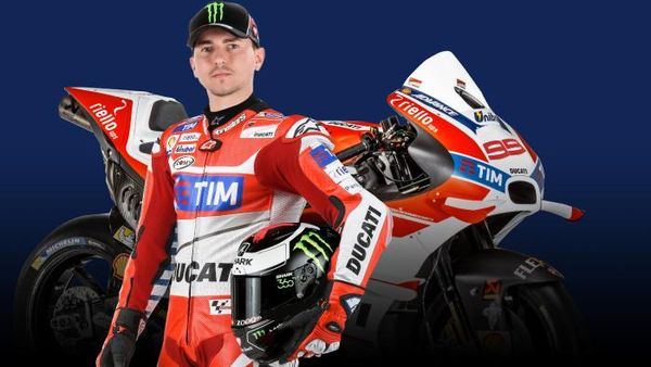 Jorge Lorenzo in his new team digs