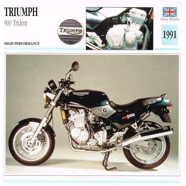Triumph 900 Trident card