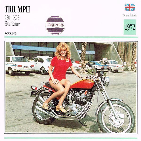 Triumph 750 - X75 Hurricane card