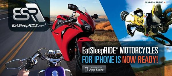 EatSleepRIDE Motorcycles App for iPhone