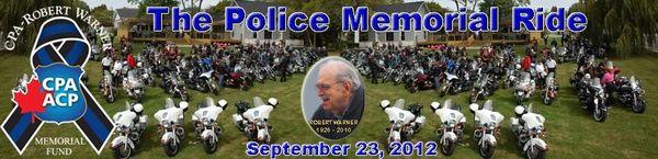 The Police Memorial Ride in Toronto, September 23, 2012