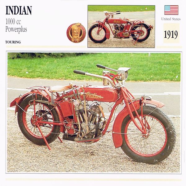 Indian 1000 cc Powerplus card