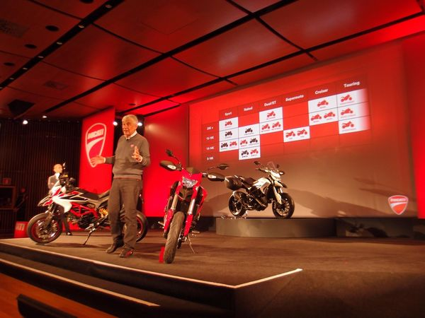 Ducati CEO with 2012 models
