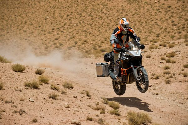 2013 KTM 1190 Adventure R in action 4