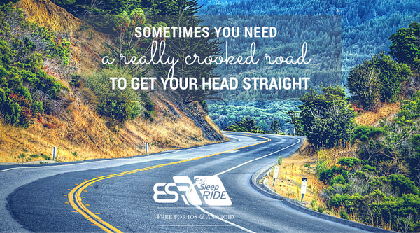 Sometimes you need a really crooked road to get your head straight #ESRapp