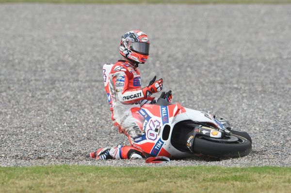 Andrea Dovizioso was understandably upset to yet again be knocked out of a premier class race by another rider for what now must feel like the millionth time for him