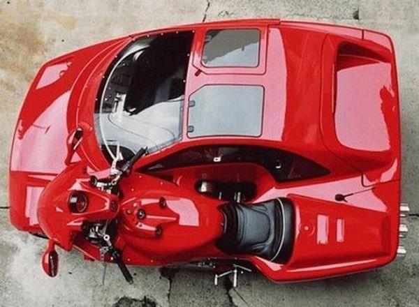 Laverda with Sidecar - A *real* side car.