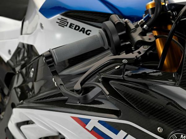 The adjustable brake lever on the HP4 Race with guard