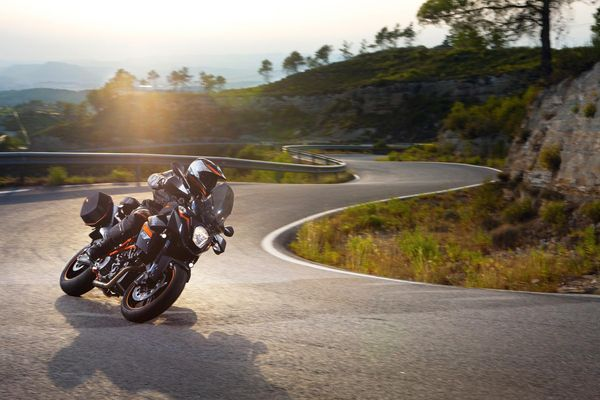 2013 KTM 990 Supermoto T in action 2