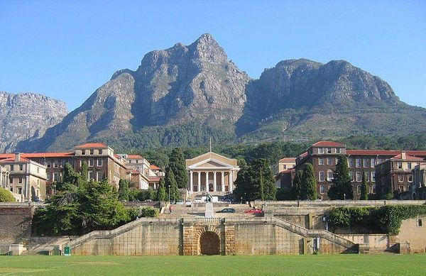 Devil's Peak Mountain and University of Cape Town