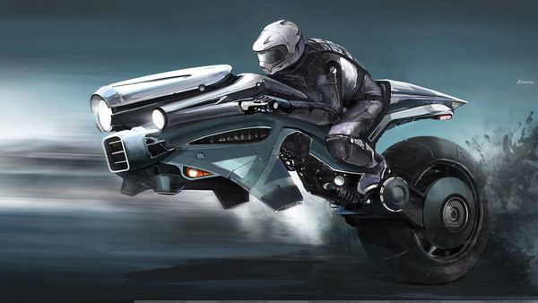 Motorcycling in the future probably will not look like this