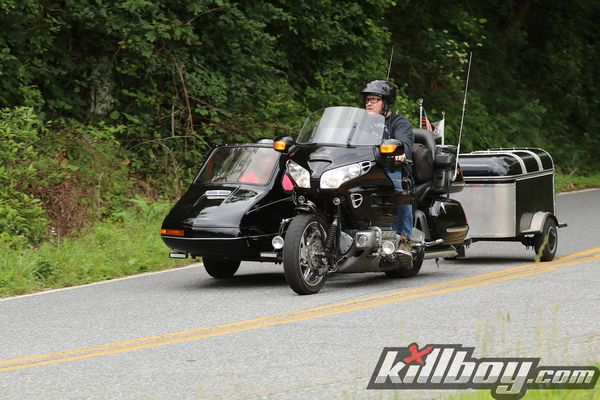 When your motorcycle takes up more space than a convertible.