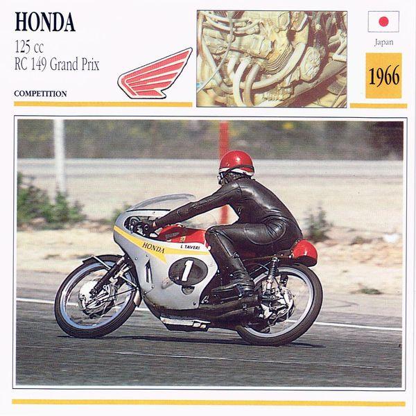 Honda 125 cc RC 129 Crand Prix card