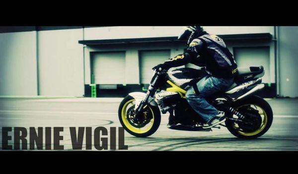 Ernie Vigil on his Triumph Street Triple & Triumph Speed Triple drift bike