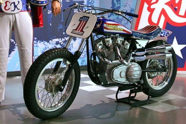 Evel Knievel and Harley Davidson XR-750 at Madame Tussaud's Las Vegas