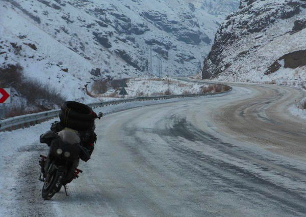 Moin Khan rode his Honda CBR600 sportbike into Turkey's mountains in December en route to Iran