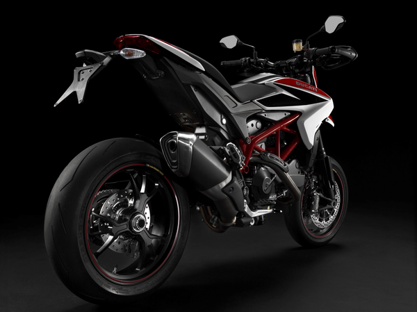 2013 Ducati Hypermotard SP - rear quarter view