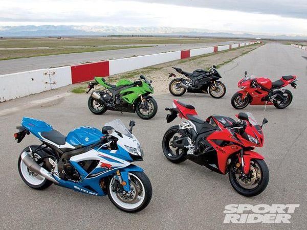 Sport Rider magazine's 2009 middleweight bike shootout