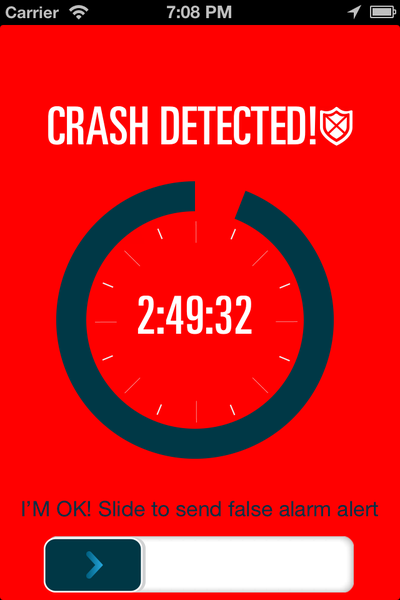 Crash Detected - EatSleepRIDE Motorcycles App