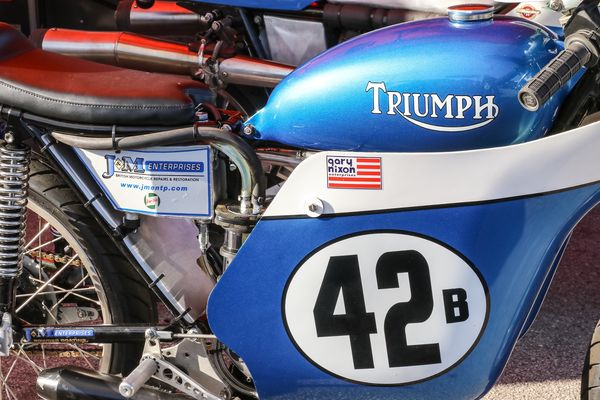 Lovely Triumph Gary Nixon racer