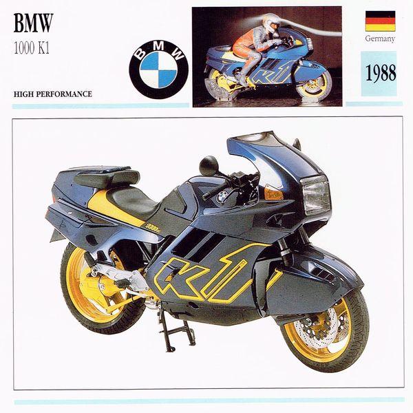 BMW 1000 K1 Card