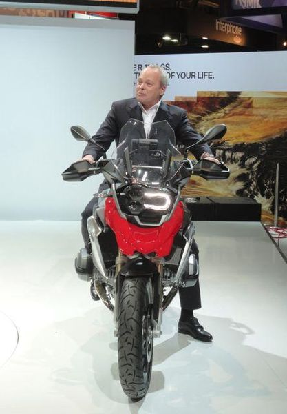 Stephan Schaller, Head of BMW Motorrad Tries the New R1200GS